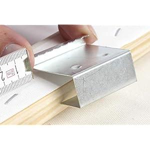 Art&More Aufhänger für Keilrahmen, 16 mm Dicke. 10er Set. Zackenaufhänger für Leinwanddrucke, Holzrahmen. rostfreie…