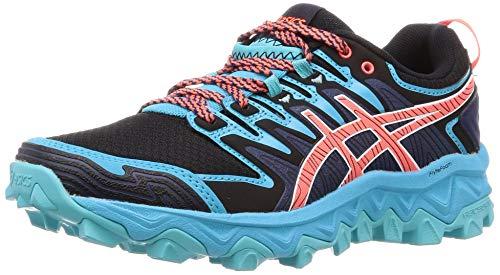 Asics Gel-Fujitrabuco 7, Zapatillas de Running para Mujer, Negro (Black/Flash Coral 001), 39 EU