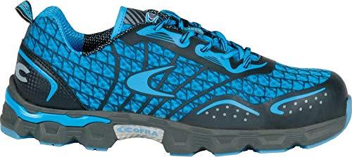 COFRA® Arbeitsschuhe Low Kick S1P sehr leichte extrem atmungsaktive Sicherheitsschuhe in Mehreren Farben (44, Sky/Blau)