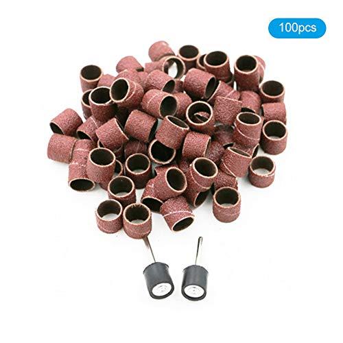 Trommelschleifset, 100 Stück Polieren Schleifen Schleiftrommel-Set Trommelschleifen Schleifpapier-Werkzeug