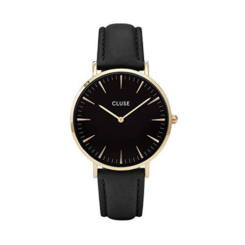 CLUSE Damen Analog Quarz Smart Watch Armbanduhr mit Leder Armband CL18401