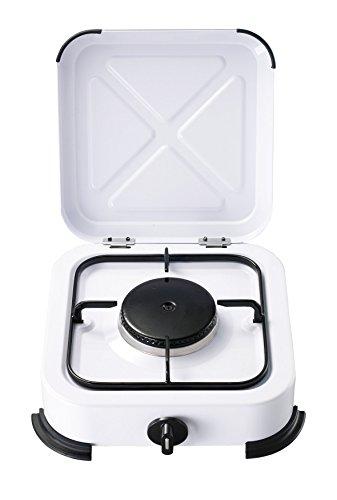 Bcalpe BG01B Cocina Gas 1 Fuego, Blanco, 28.5x31x10.5 cm