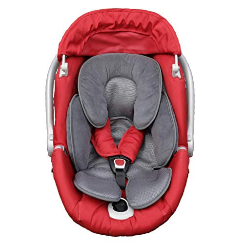 Riduttore passeggino universale ovetto neonato cuscino seggiolino auto culla seggiolone traspirante leggero supporto protezione testa bimbo 0-12 mesi nuova generazione estate inverno anallergico