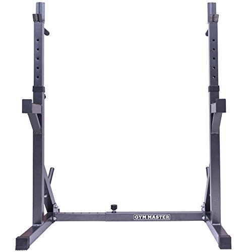 Gym-Master-Adjustable-Squat-Rack-Stand-With-Dip-Bars