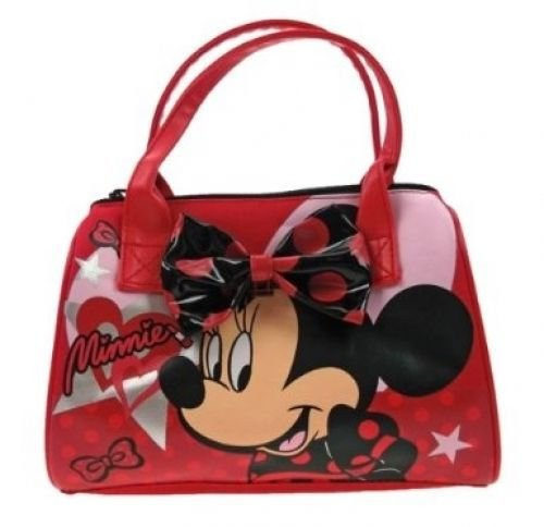 Disney Minnie Mouse Girls Red Lipstick Themed Bowling Handbag