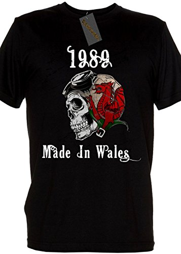 Legend 1989 Made In Wales Mens T Shirt Schwarz