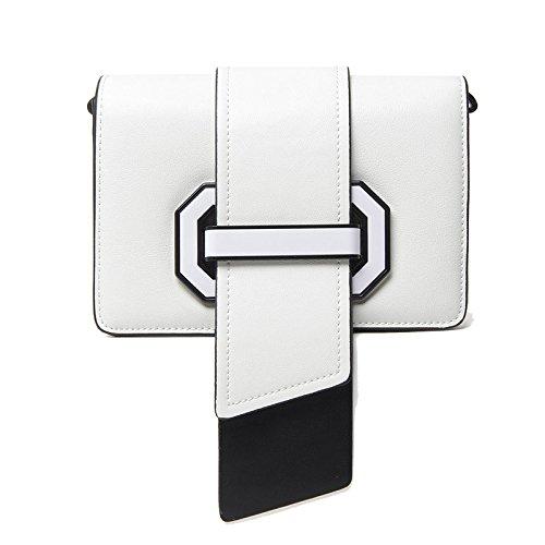 Handtaschen aus quadratische Leder Umhängetasche kleine Tasche Pink Frauen Bag Messenger für r4qRxdTnr6