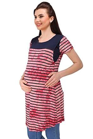 MomToBe Women's Hosiery Maternity Top, Red
