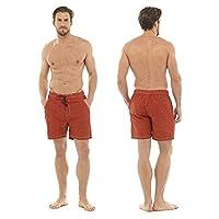 Mens Shark Print Swim Shorts Swimming Trunks Beach Holiday Swimwear - Red, M