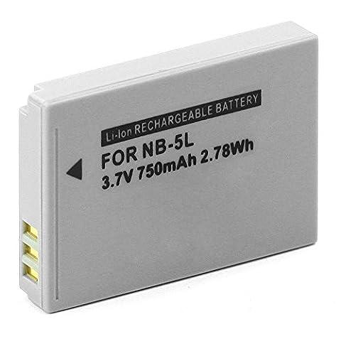 Cellonic® Batterie Pour Canon PowerShot S110 S100 SX220 SX200 SX210 IXUS 850 SD790 SD990 SD970 SD950 SD900 IXUS 90 990 980 970 960 950 (750mAh) NB-5L