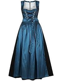 Damen Stützle Dirndl lang festlich blau, blau,