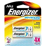 Eveready Advanced Lithium Batteries, AA, 2/Pack EA91BP2 By Energizer