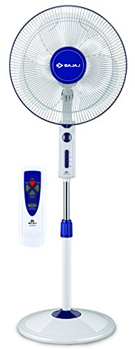 Bajaj Victor VP-R01 400mm Pedestal Fan (White/Blue)