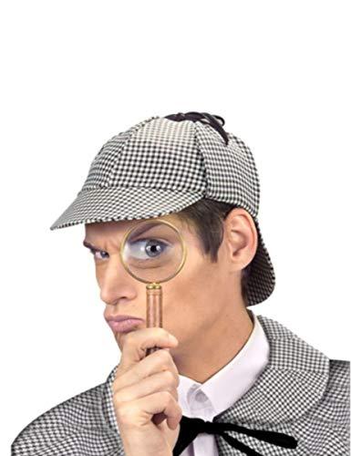 Kostüm Engländer - KULTFAKTOR GmbH Engländer Detektiv Kappe braun-Weiss Einheitsgröße