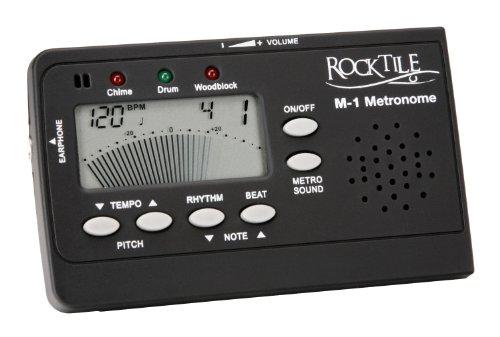 Rocktile M-1 Digital-Metronom mit Tongenerator und hoher Lautstärke (Taktgeber, Tempobereich: 30 - 250 bpm, 3 verschiedene Klänge für Strong-, Weakbeat und Rhythm)