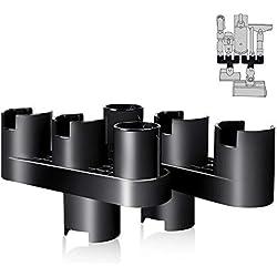 Support de Fixation Mural pour Dyson V7, V8, V10 Aspirateur Accesoires- Titulaire pour Garder Tous Accessoires de Dyson en 1 Place- KEEPOW® Ensemble de Convertisseur d'Adaptateur