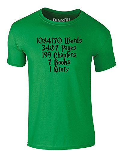 Brand88 - One Story, Erwachsene Gedrucktes T-Shirt Grün/Schwarz
