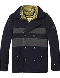 Scotch & Soda Boy's Wool Pea Coat Jacket