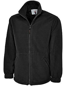 UC604–clásico cremallera completa Micro chaqueta de forro polar (300G/m²)–negro–XXXXL grande