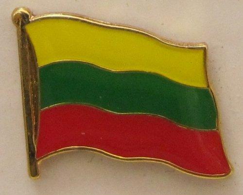 Pin Anstecker Flagge Fahne Litauen Nationalflagge Flaggenpin Badge Button Flaggen Clip Anstecknadel