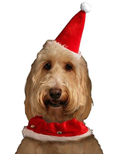 Collier-de-Pre-Nol-de-chien-et-chapeau-Motif-lastique-Convient-pour-moyengrand-chien