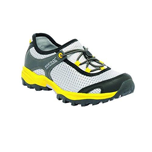 Regatta Boys Platipus Junior Breathable Walking Shoes Yellow RKF348 LtStl/BriYel