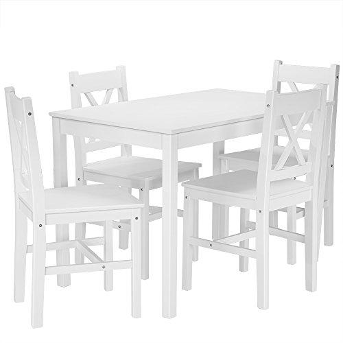 Tavolo Da Soggiorno Cucina.Keinode Tavolo Da Pranzo In Legno Di Pino Massiccio Tavolo E 4