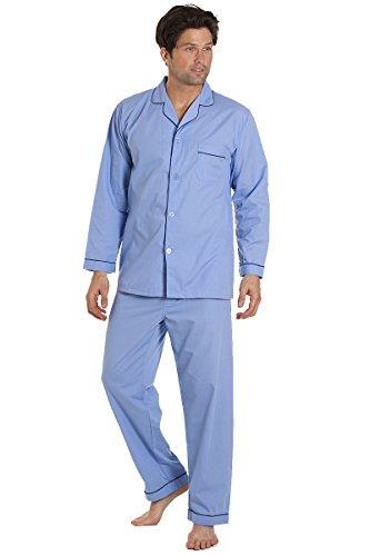 Herren Pyjama - klassisch, bequem und atmungsaktiv Sky Blue