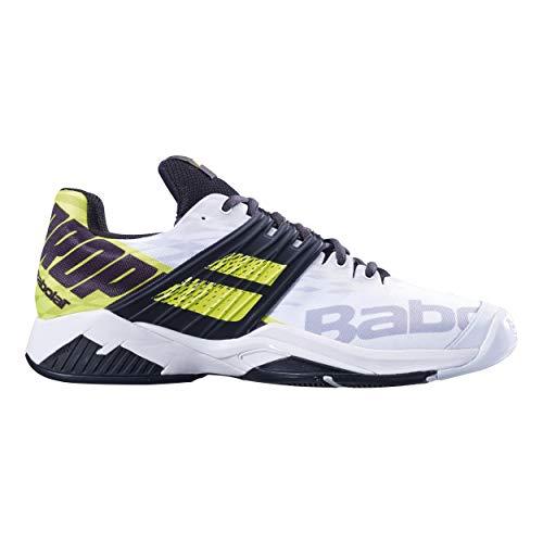 Babolat Men Propulse Fury Allcourt Tennis Shoes all Court Shoe White - Black 13,5