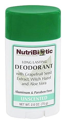 Long Lasting Deodorant Stick, ohne Duft, 2,6 Unzen (75 g) - NutriBiotic - Anzahl 1