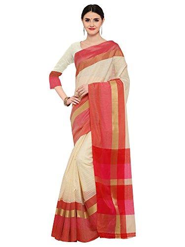 Mrinalika Fashion Linen Saree With Blouse Piece(Linen saree for women_LNN120_White_Free Size)