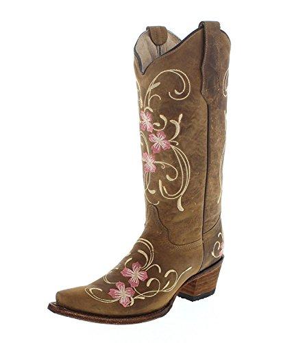 Stiefel Damenstiefel Boots Western Cowgirl USA Leder Rindsleder Westernstiefel