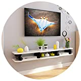 GJF Étagère flottante Armoire TV Equipement multimédia Salon TV Mur Fond Pendentif Mur (Couleur : B, taille : 110CM)