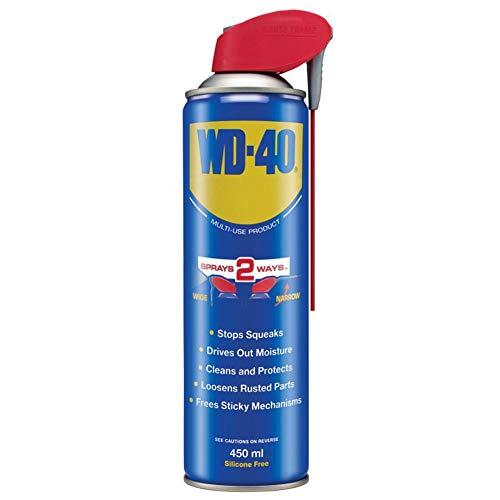 Spray Lubrificante Multifunzione WD40 Sbloccante Pulitore 450 ml Professionale Smart WD-40 beccuccio Canna Lu