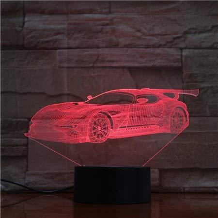 Lámpara de mesa de coche Deportivo Modelo de luz de Noche colorida lámpara de atmósfera táctil ventilador de dormitorio decoración niños Regalo de Navidad