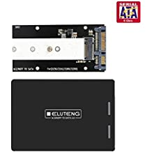 "ELUTENG M.2 SSD Adapter 2.5"" Externes SATA Gehäuse für 2242 2260 2280 M2 NGFF SSD B + M Key NGFF zu SATA Adapter für Win10/8/7/VISTA/Linux/Mac"