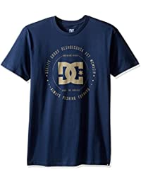 DC Shoes Men's Rebuilt SS T Shirt Blue L