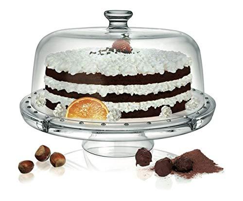 Stand pour Les Desserts et Les Fruits avec Une Cloche de Verre Polyvalent cod.AD11510LU cm 22h diam.31 by Varotto & Co.