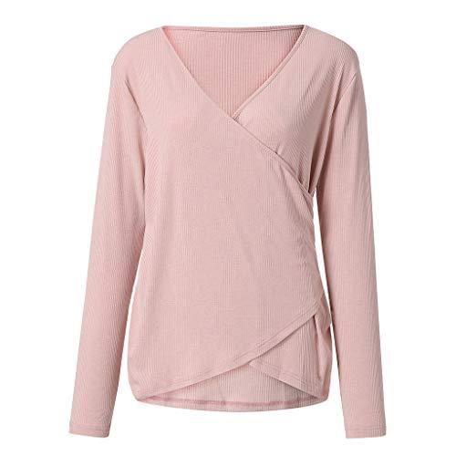 Frühlings- und Wintermode beiläufige langärmlige Weste T-Shirt Bluse -