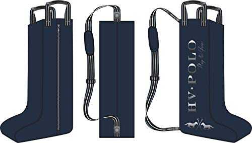 HV Polo Stiefeltasche Jill Griffe + langer Schulterriemen Logo-Grafik (navy) - Navy-reitstiefel
