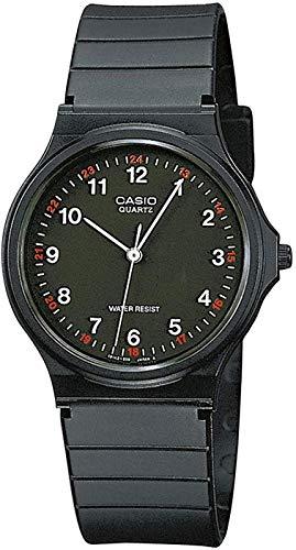 casio orologio analogico quarzo uomo con cinturino in resina mq-24-1bllgf