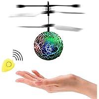 ThinkMax RC Flying Ball con control remoto, bola de helicóptero de inducción de infrarrojos RC, incorporado brillo color luces LED que cambian para niños y adolescentes