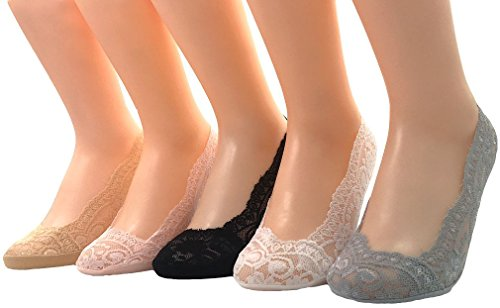 Ballerina Socken Fußlinge Spitzensocken  schwarz   Gr.35-38