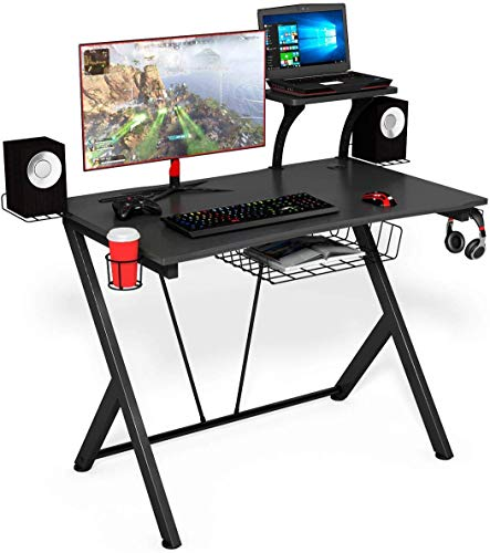 COSTWAY Mesa Gaming Ergonómica Escritorio Computadora