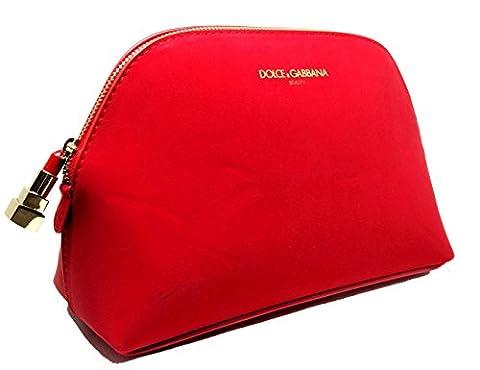 Dolce & Gabbana Sac pochette de maquillage beauté Rouge D & G