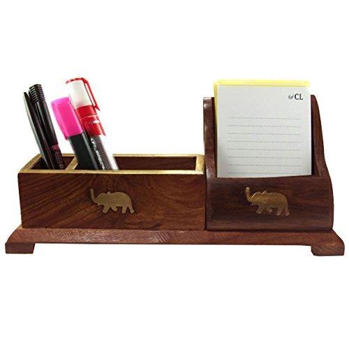 Holz 3 Fach Fernbedienung Caddy Lagerung Inhaber / Desktop Bürobedarf Organizer Box Container für Schreibtisch Home Küche Bürobedarf 10 Zoll -