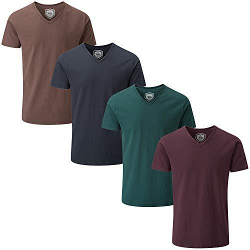 d897f2139bb7e2 Charles Wilson Herren 4er Packung Elastan T-Shirts gebraucht kaufen Wird an  jeden Ort in