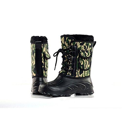 Camouflage Bottes Imperméable De Doublée Fourrure Randonnée Chaudes 08PkXnOw