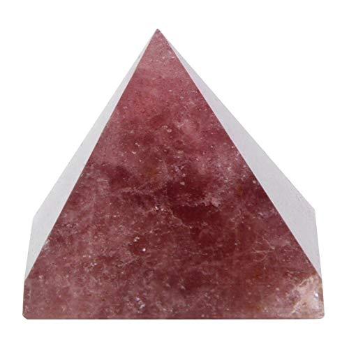 Wifehelper Pyramide Kristall Ornamente 100% Natürlichen Kristall Quarz Pyramide Turm Dekor Dekoration Ornament Geschenk für Freunde der Familie