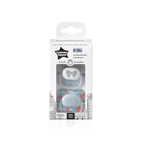 Tommee Tippee Little London: 2 x Chupete 6-18m Azul